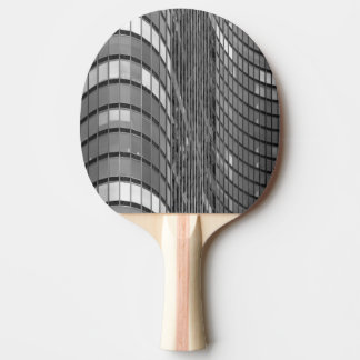 Steel and glass curtain wall of modern ping pong paddle