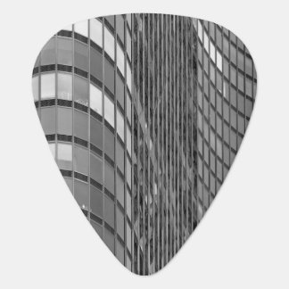 Steel and glass curtain wall of modern plectrum