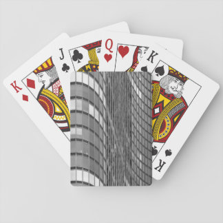 Steel and glass curtain wall of modern poker deck