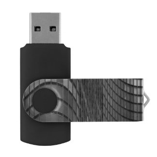 Steel and glass curtain wall of modern USB flash drive