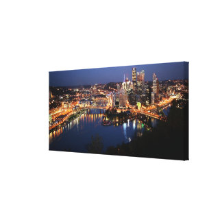 Steel and Indigo Sandwich Canvas Print