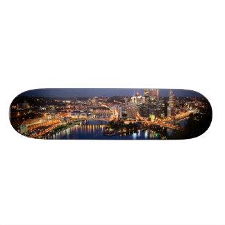 Steel and Indigo Sandwich Custom Skateboard