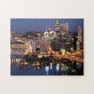 Steel and Indigo Sandwich Jigsaw Puzzle