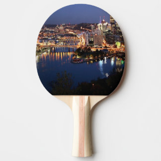 Steel and Indigo Sandwich Ping Pong Paddle