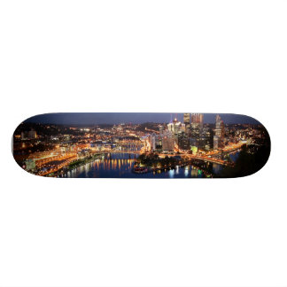 Steel and Indigo Sandwich Skateboard
