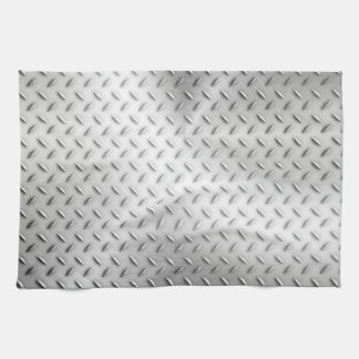 Steel background tea towel
