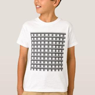 steel bars background t-shirt
