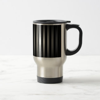 steel bars background travel mug