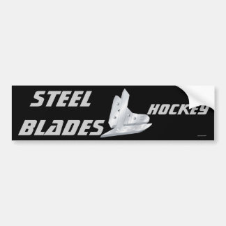 Steel Blades Car Bumper Sticker