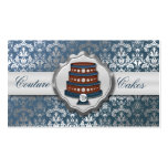 Steel Blue Cake Couture Glitzy Damask Cake Bakery