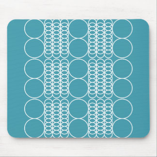 Steel Blue Geo Mousepad by Florence Dashiell