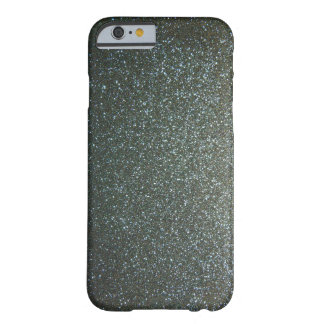 Steel Blue Grey Faux Glitter Barely There iPhone 6 Case