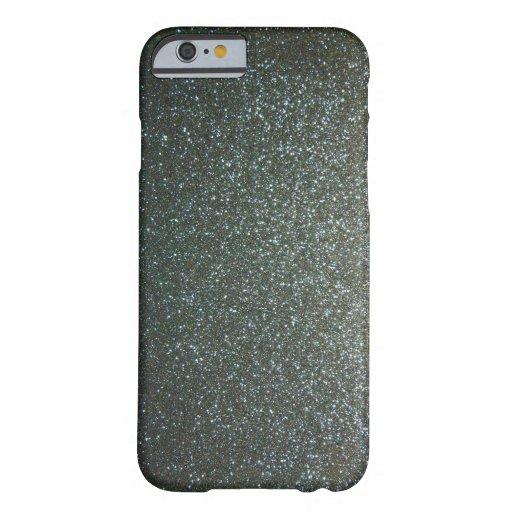 Steel Blue Grey Faux Glitter iPhone 6 Case