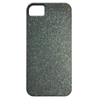 Steel Blue Grey Faux Glitter iPhone 5 Cases
