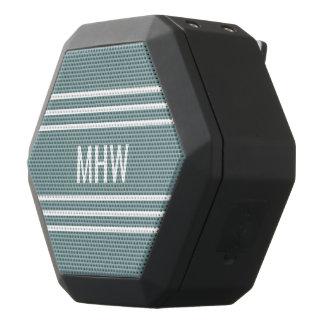Steel Blue Stripes custom monogram speakers