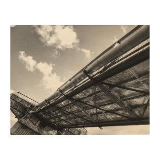 Steel Bridge Blackandwhite Photography Wood Art