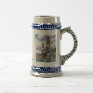 Steel Bridge in Portland, Oregon Beer Stein