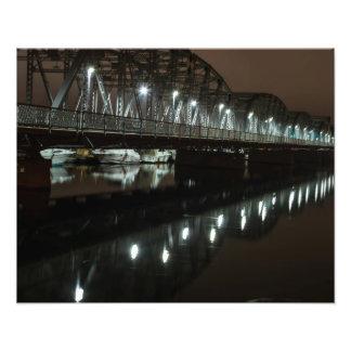 Steel Bridge - Night Shot -Door County, WI Photograph