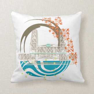 Steel Bridge Portland Oregon Pillow