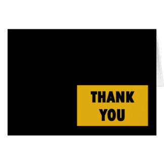Steel City Thank You Block Card