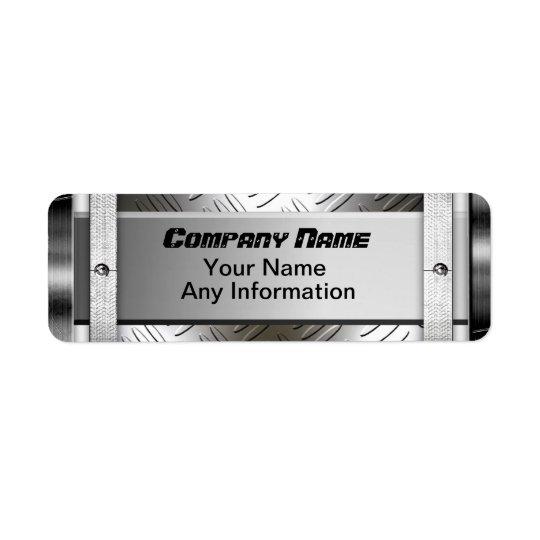 Steel Diamond Pattern Metal Labels