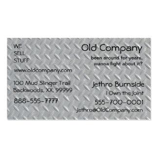 Steel Diamond Plate Background Business Card Templates