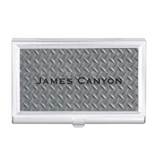 Steel Diamond Plate Background Business Card Holder