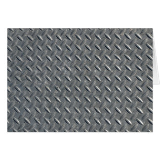 Steel Diamond Plate Background Stationery Note Card