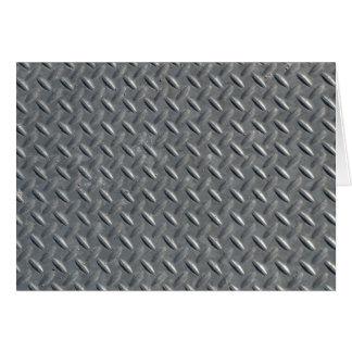 Steel Diamond Plate Background Note Card