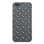 Steel diamond plate iPhone 5 covers