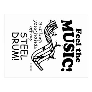 Steel Drum Feel The Music Postcard