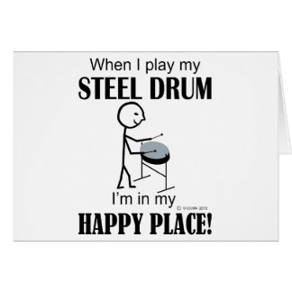 Steel Drum Happy Place Card