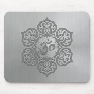 Steel Floral Ohm Design Mouse Mat