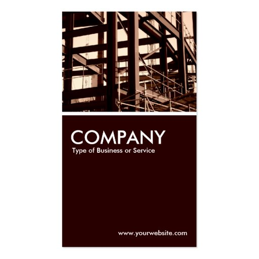 Collections of slogan business cards steel frame construction business card colourmoves Images