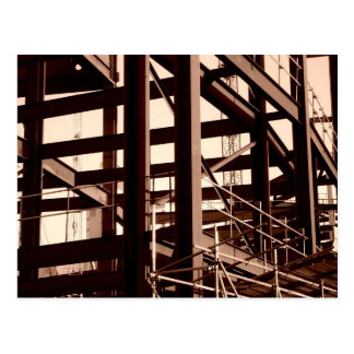 Steel Frame Construction Postcard