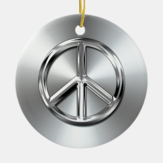 Steel Gradient Graphic Peace Symbol Christmas Ornament