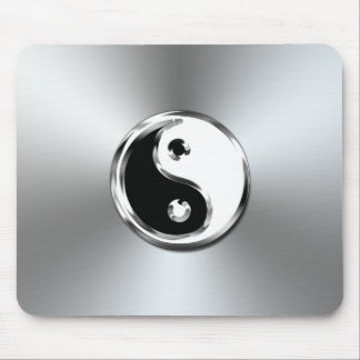 Steel Gradient Graphic Yin-Yang Symbol Mouse Pad