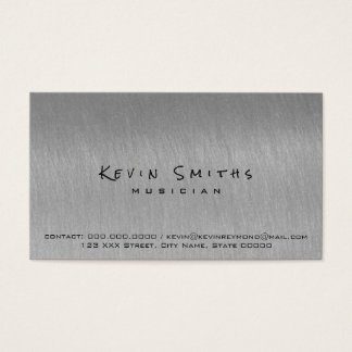 steel gray cool and modern musician business card