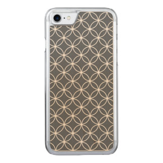 Steel Grey and White Circles Pattern Carved iPhone 8/7 Case