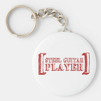 Steel Guitar Player Key Ring