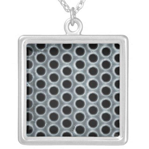 Steel Holes Metal Mesh Pattern Custom Jewelry