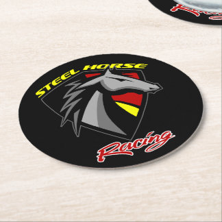 Steel Horse Racing Drink Coasters - Set of 6