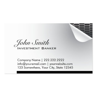 Steel Inside Investment Banker Business Card