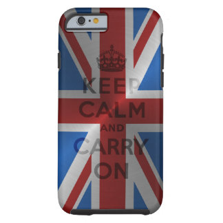 Steel Keep Calm And Carry On Tough iPhone 6 Case