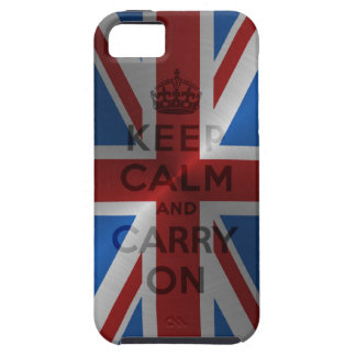 Steel Keep Calm And Carry On iPhone 5 Cover