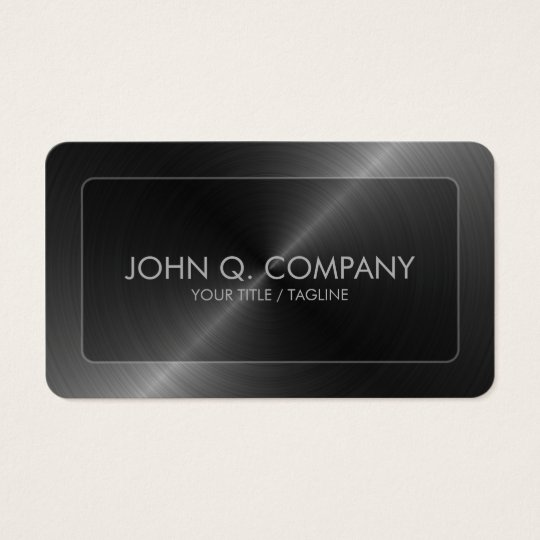 Steel Look Round Corners Business Card