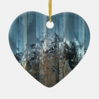steel love heart photo christmas ornament