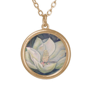 Steel Magnolia Gold Plated Necklace