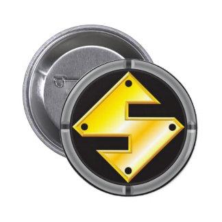 Steel Man Logo 6 Cm Round Badge