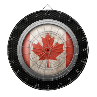 Steel Mesh Canadian Flag Disc Graphic Dartboards